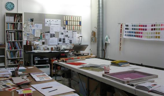 view of Joanna Kinnersly-Taylor's studio